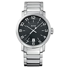 Hugo Boss - 1512362 - Gents Watch - Analogue Quartz - Black Dial - Stainless Steel Silver Strap