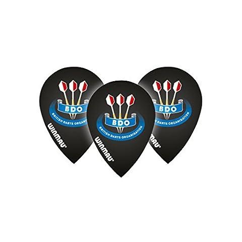 Winmau BDO Black Pear Dart Flights - 4 sets Per Pack (12 Dart Flights in total) & Red Dragon Checkout Card