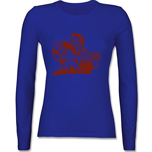 Handwerk - Friseur - tailliertes Longsleeve / langärmeliges T-Shirt für Damen Royalblau