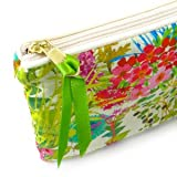 FabulousLiberty Fabric Small Flat Purse Cosmetic Make Up Bag Tresco Multi