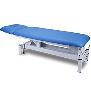 Elektrische Behandlungsliege Therapieliege Massageliege Blau 072301 (Mit Handbedienung)