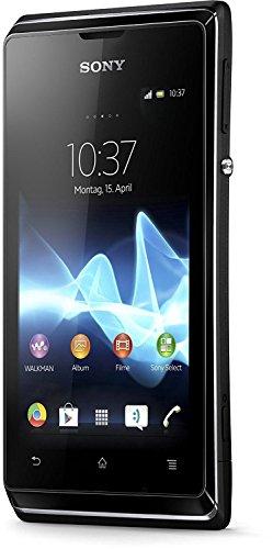 'Sony Xperia E Smartphone Android (Bildschirm 3.5, 3.2MP Kamera, 4GB, 1GHz, 512MB RAM), Schwarz