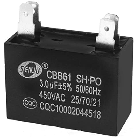 CBB61 AC450V 3uF Rectangular Aire Acondicionado Motor De Ventilador Inicio Condensador