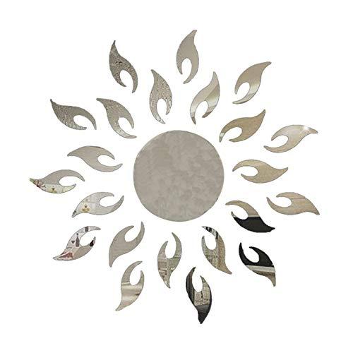 Atiehua Wandtattoos Hot Sun Sunshine Fire Sunflower Wandaufkleber 3D Spiegeleffekt Kunstwand Diy Abnehmbare Aufkleber Aufkleber Wohnkultur -