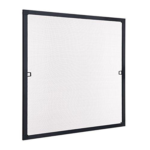 Ventanara Insektenschutz Fliegengitter Fenster Spannrahmen Schwarz RAL 9011 100 x 130 cm