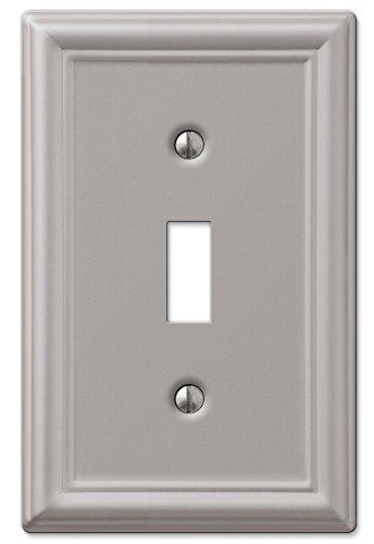 AmerTac 149TBN Chelsea Steel Single Toggle Wallplate, Brushed Nickel by AmerTac