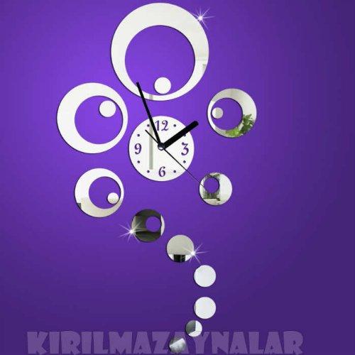 X&L Muro adesivi parete casa creativa orologio specchio acrilico DIY sticker orologio da parete