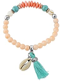 Coral and turquoise tonal beautiful bracelet - includes gift bag