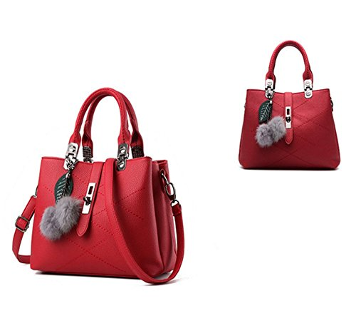 Eysee, Borsa tote donna nero Light grey 29cm*21cm*13cm Wine red