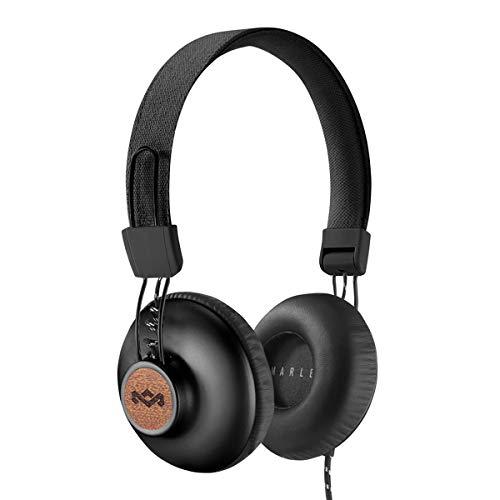 Foto House of Marley Positive Vibration 2 Cuffie con Microfono, Diver da 40mm, Design Confortevole On-Ear, Pieghevole, Grigio/Nero