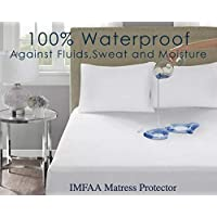 IMFAA 100% Water & Moisture Proof Terry Towel Mattress Protector, Non Noisy,Anti Bacterial, Breathable Topper Cover in All Sizes(4 FT-40Cm Deep)