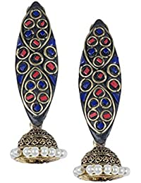 Anetra Chand Bali Earrings for Women (Black)(ads_013)