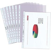 Herlitz 5824008 Prospekthülle ,A4, glasklar, Stärke: 0,06 mm, 100 Stück