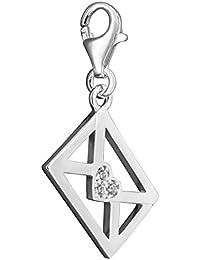 Thomas Sabo 0433-007-2 Pumps/Shoe Charm Pendant Silver Brown Enamel Jewellery