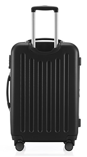 HAUPTSTADTKOFFER - Spree - 2er Koffer-Set Hartschale matt, TSA, 65 cm, 82 Liter, Dunkelblau Schwarz/Schwarz