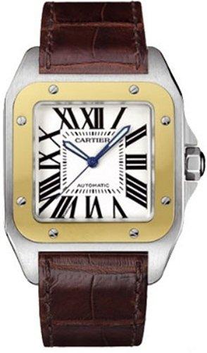 cartier-santos-100-reloj-de-hombre-automatico-38mm-correa-de-cuero-w20072x7