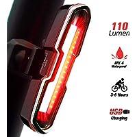 DONPEREGRINO 110 LM LED Feu Arrière Vélo Rechargeable USB, Lampe Vélo Étanche & Puissant