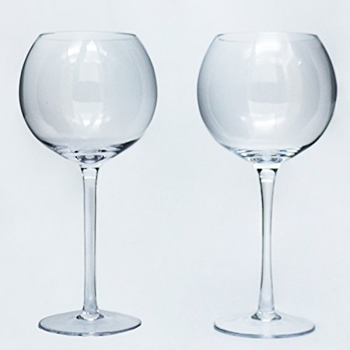 GIN Ballon Gläser, Gin Kelche, Gin und Tonic Cocktail Gläser (Set von 2) ideal für Bar oder Zuhause (Acryl-krug Und Glas-set)