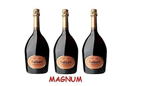 Lot de 3 Magnum de Champagne Ruinart Brut Rosé 1.5L