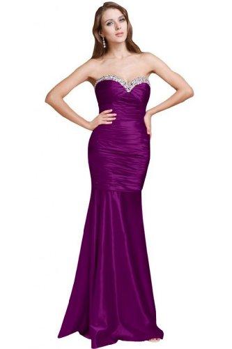 Sunvary Sexy in stile sirena raso per abiti da sera, motivo: Tesoro Grape