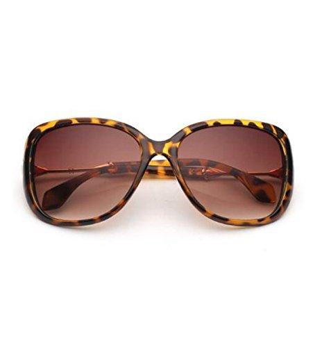 MYLL Classic Lady Sonnenbrille Mode-großes Feld Trendy (Retro Sonnenbrille Rock Leopard)