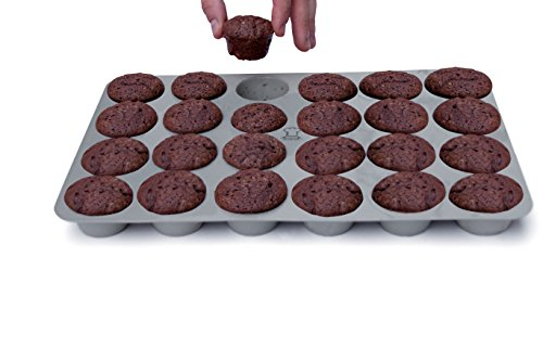 BackeFix Mini Muffinblech Muffinform aus Silikon Ohne Fett und Papierförmchen Backen - 24er Muffinbackform Zero Waste Ø 4,5cm
