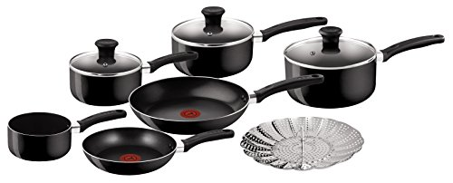 Tefal Delight Cookware Set - Black, 7 Pieces