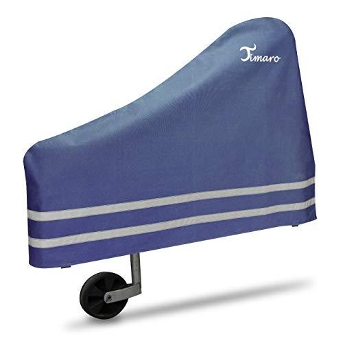 TIMARO universal Deichselhaube Blau   Deichselabdeckung Deichselschutz für Anhänger XL Deichselhülle für Pferdeanhänger & Wohnwagen   Wetterschutz Plane - car e Cover große Schutzhülle Haube