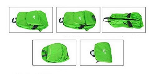 Ultra leggero da viaggio impermeabile escursionismo arrampicata campeggio Zaini Casual scuola borsa a tracolla per adolescenti e bambine verde