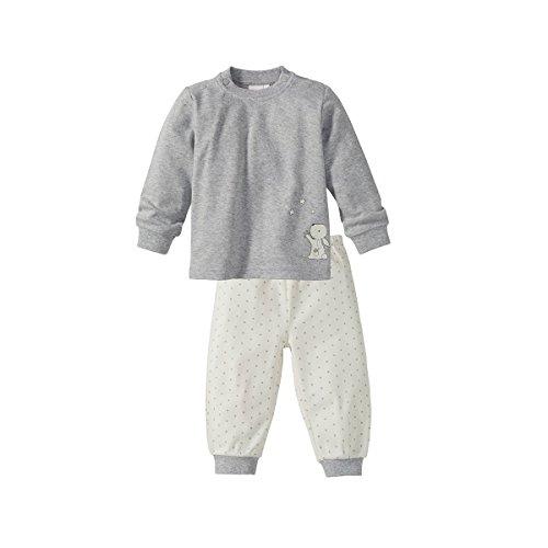 Bornino Bornino Schlafanzug lang - Pyjama für Babys - Langarm-Shirt mit Druckknöpfen & Hose mit elastischem Bund - Reine Baumwolle - Mehrfarbig