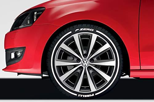 Preisvergleich Produktbild LK Performance Original Bright White Rubber Raised Pirelli Lines Reifenaufkleber,  Vinyl-Buchstaben