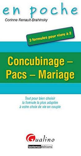 Concubinage,pacs,mariage