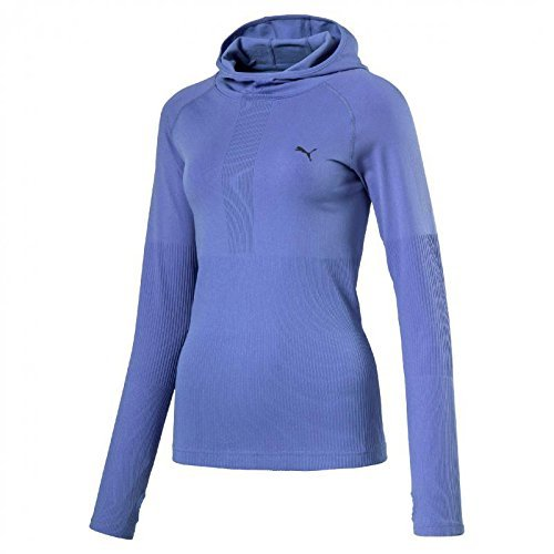 Puma Evo Knit Night Cat Long Sleeve Veste à Capuche Femme, Bleu Lavande Bleu baja