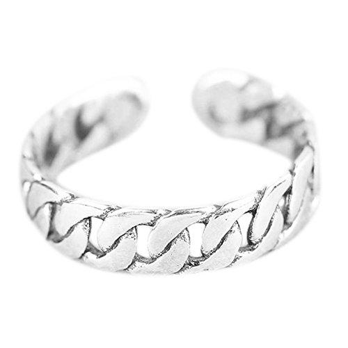 Wicmoon Ringe Vintage Punk Hohl Kette Öffnung Einstellbar Ring Finger Schmuck für Damen und Mädchen