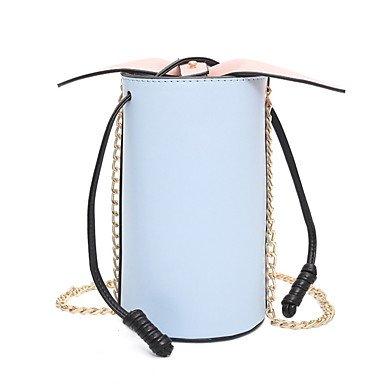 SUNNY KEY-Borsa a tracolla @ Donna Borsa a tracolla PU (Poliuretano) Per tutte le stagioni Casual Bauletto A calamita Blu Bianco Nero Rosa , black white