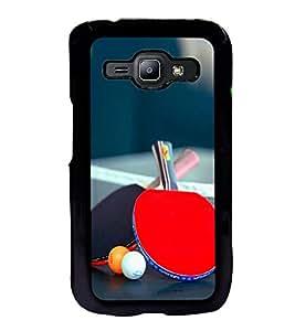 Fuson Designer Back Case Cover for Samsung Galaxy J1 (2015) :: Samsung Galaxy J1 4G (2015) :: Samsung Galaxy J1 4G Duos :: Samsung Galaxy J1 J100F J100Fn J100H J100H/Dd J100H/Ds J100M J100Mu (Table Tennis Game Sport Table Rackets)