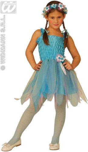Widmann 3467B - Feenkostüm Blau Ballerina für Mädchen, 3-4 (Blaue Ballerina Kostüme)