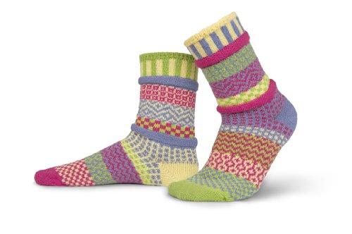 Solmate Socks Damen oder Herren Socken Supreme aus Recyceitem Baumwolle Bunte Lustige, Aster Gross (Vans-socken Kinder)