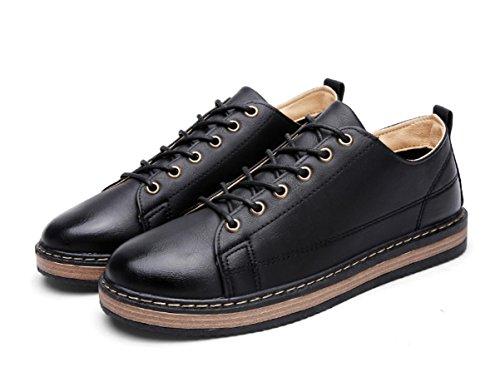 New England Retro-Schuhe beiläufige Schuhe der Männer wilde Runde Black