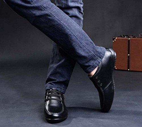 Scarpe Da Uomo Scarpe Stringate In Pelle Casual Scarpe Da Guida Morbide Scarpe Antinfortunistiche Black