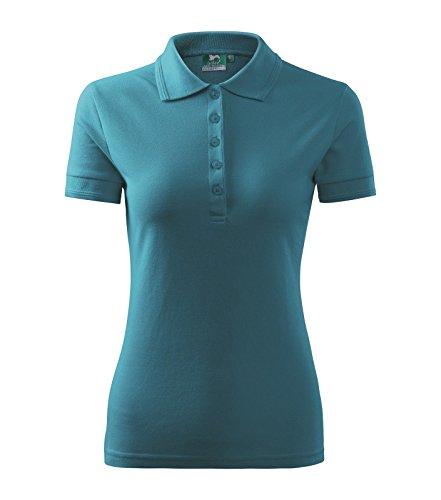 60a82ce612e9 Poloshirt Polohemd für Damen Pique Polo von Adler - Größe und Farbe wählbar  - Dunkel Türkis ...