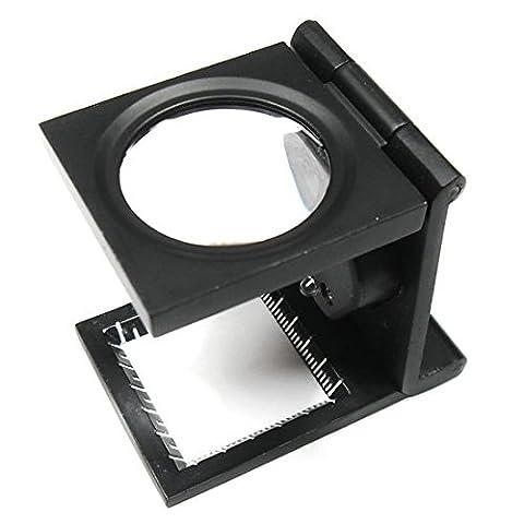 Lugii Cube 8* Bureau Loupe Loupe en verre Dessus de table Magnifiers avec lampe LED
