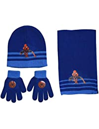 71a64ec14aff Spiderman Ensemble Bonnet + écharpe + Gants Bleu Enfant garçon