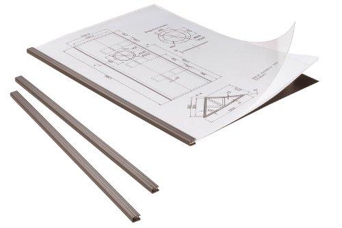 Durable 294201 DuraGrip Kit Baguettes + Couvertures + Dos pour Reliure Manuelle A4 20 feuilles Noir Sachet de 5