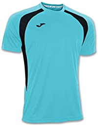 Joma - Camiseta Champion III Turquesa Fluor-ngro m/c para Hombre