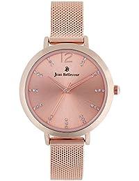 Reloj mujer JEAN Bellecour y pulsera de cuarzo reloj Rose Gold 32 mm Rose Gold Malla JB1022
