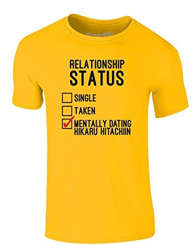 Brand88 - Mentally Dating Hikaru Hitachiin, Erwachsene Gedrucktes T-Shirt Gänseblümchen-Gelb/Schwarz/Rote
