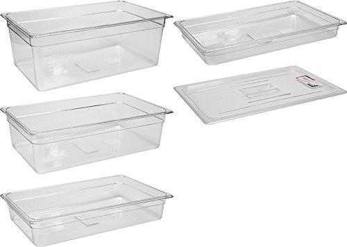 YATO Profi Polycarbonat GN Gastronormbehälter 1/1 Größen Auswahl 65-200mm auch Deckel Gastro Norm Behälter Kunststoff