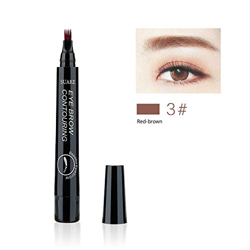 Eyebrow Pen with 4 Colors Long-lasting Waterproof Brow Gel and Tint Dye Cream for Eyes Makeup...