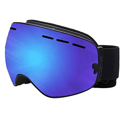 GAOWF Ski Goggles, Double-Layer-Anti-Fog-Snowboard-Schutzbrillen, Double Lens Rahmen Snow Goggles, UV-Schutz-Wide Sphärische Skate-Sonnenbrille Für Motorrad Fahrrad Snowmobile,D